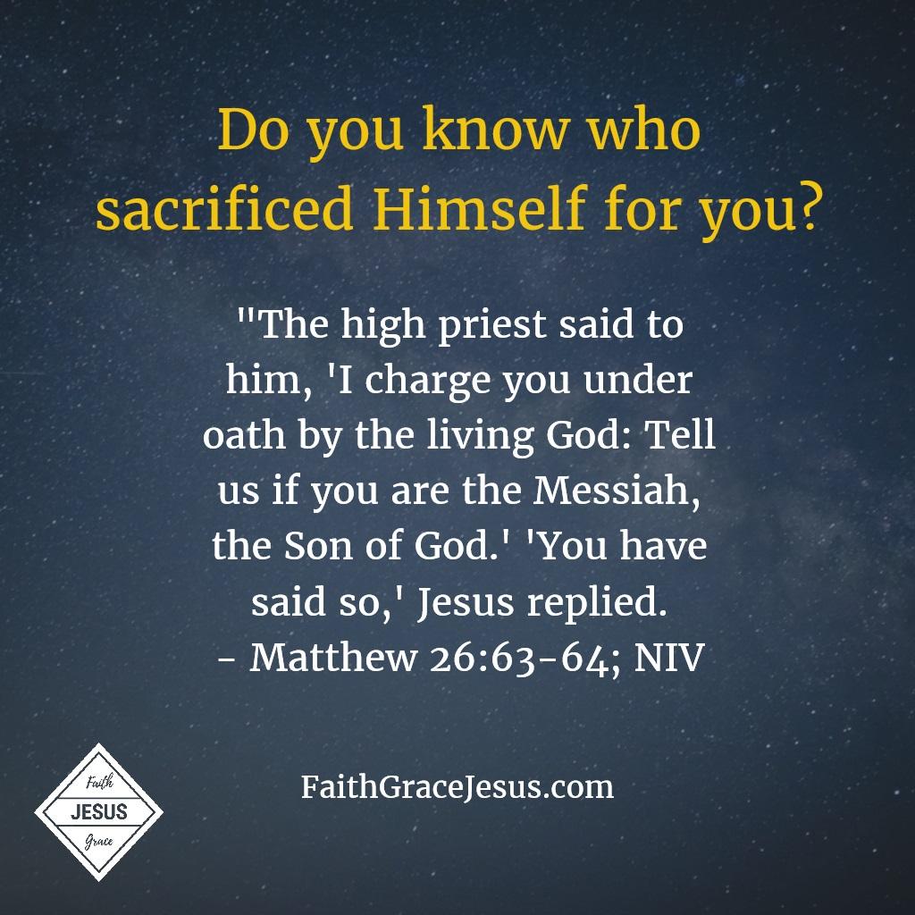 Matthew 26:63-64