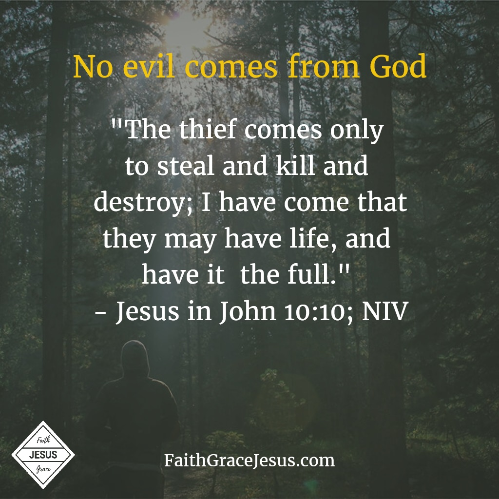 John 10:10 - The thief comes to steal, kill and destroy