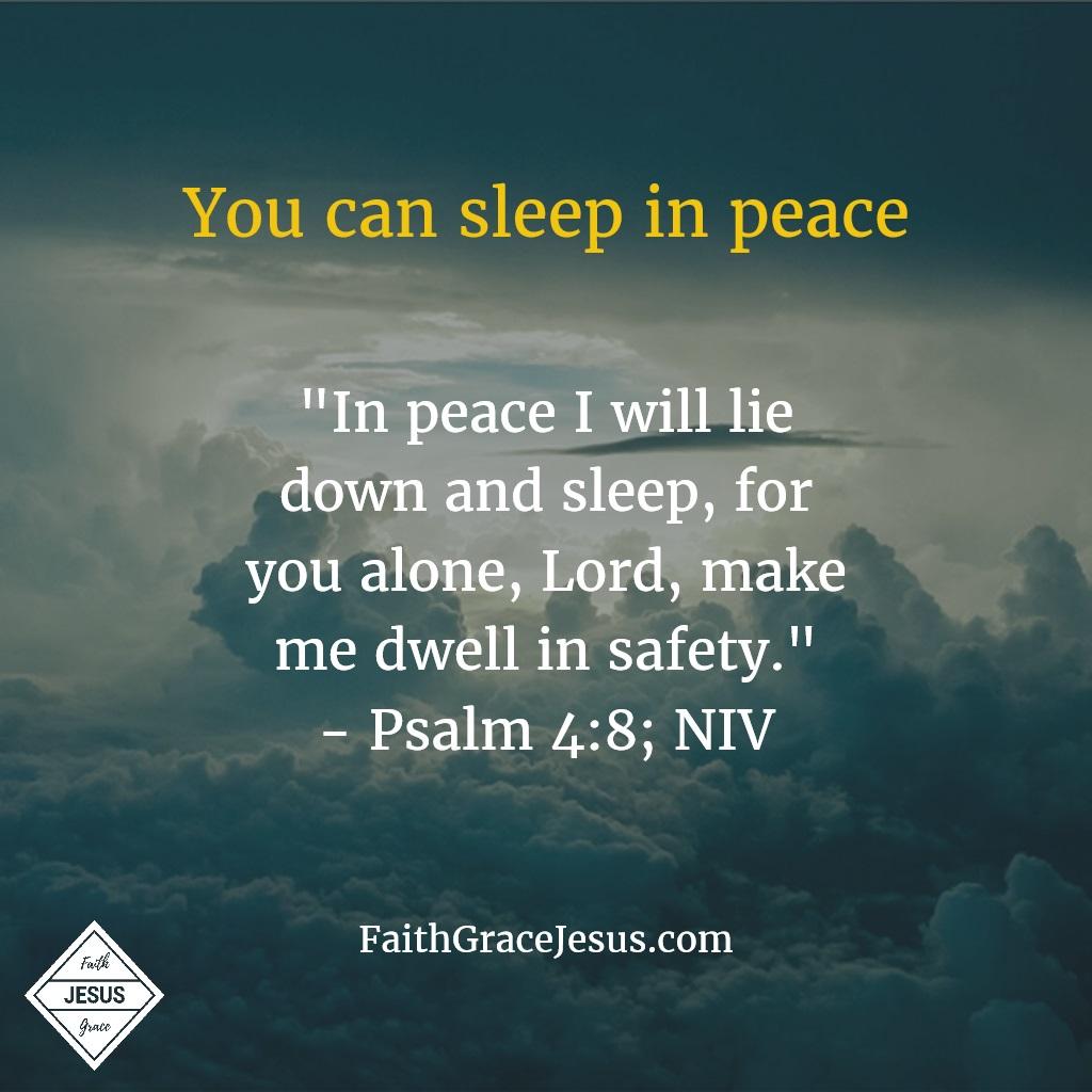 Psalm 4:8; NIV