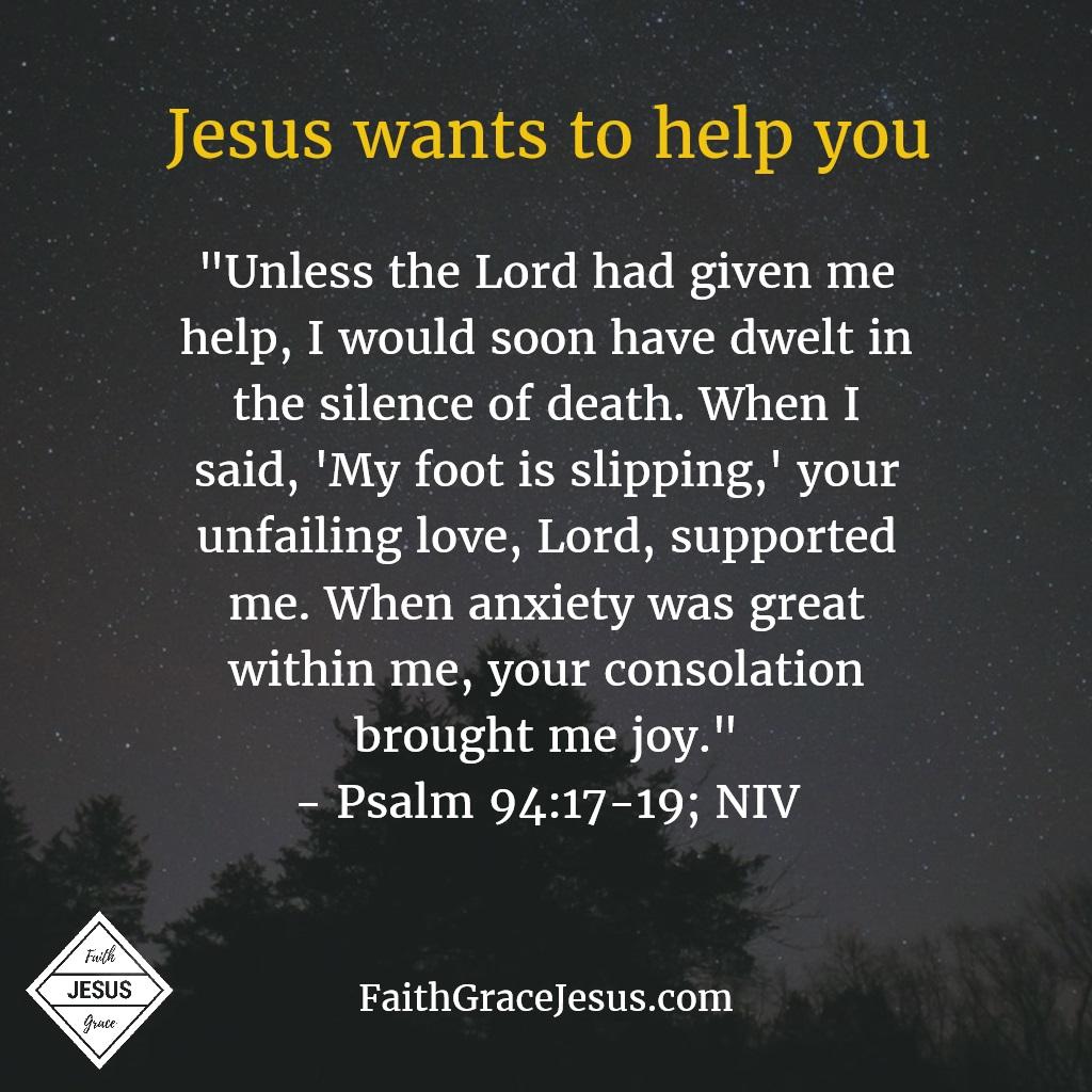 Psalm 94:17-19