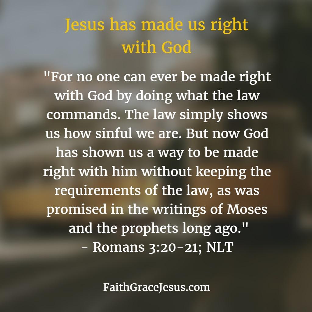 Romans 3:20-21