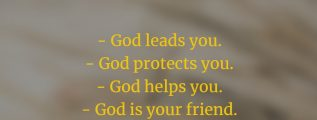 God is your friend