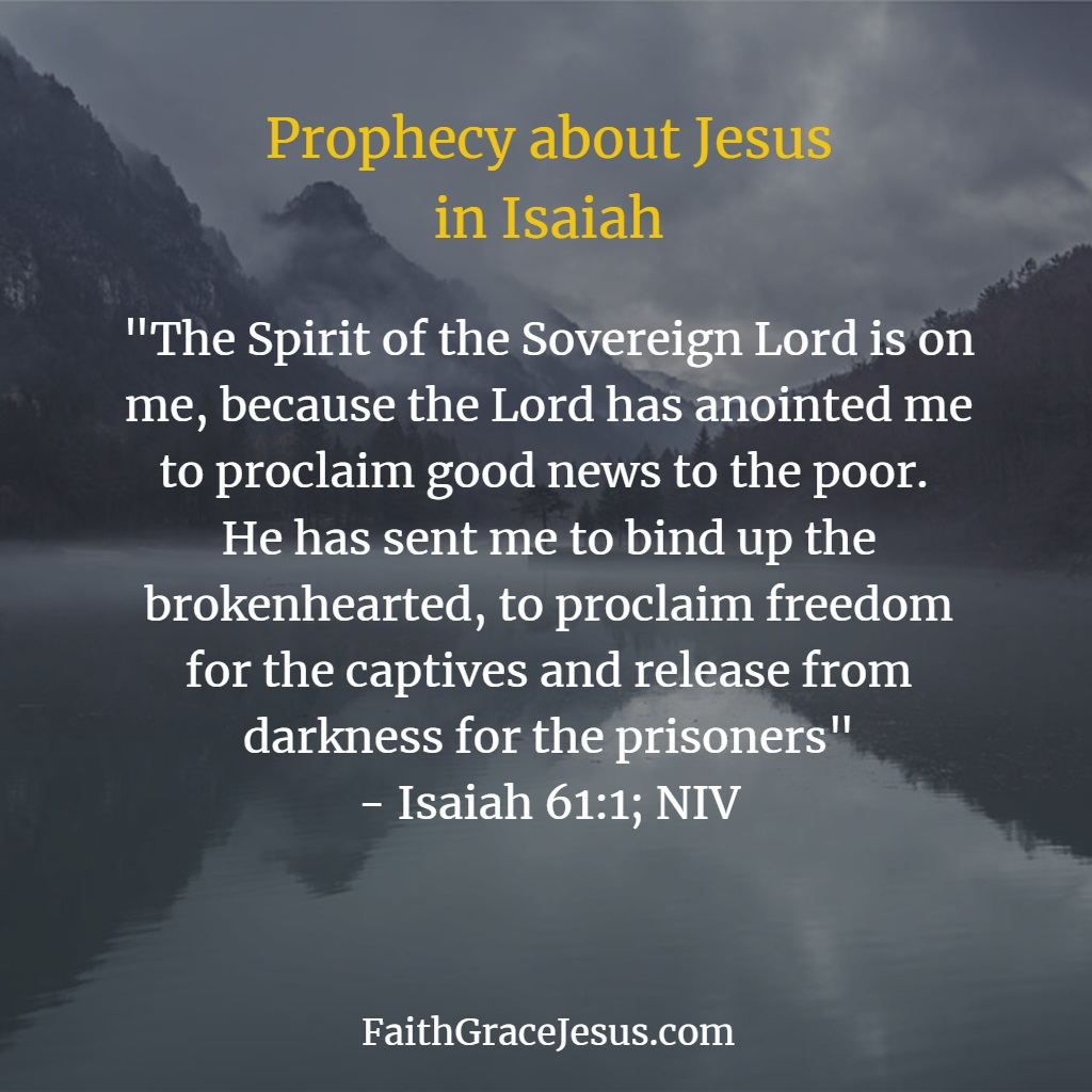 Isaiah 61:1 Prophecy about the Messiah