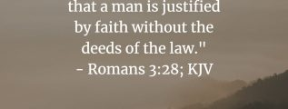 Justified apart from the works of the law