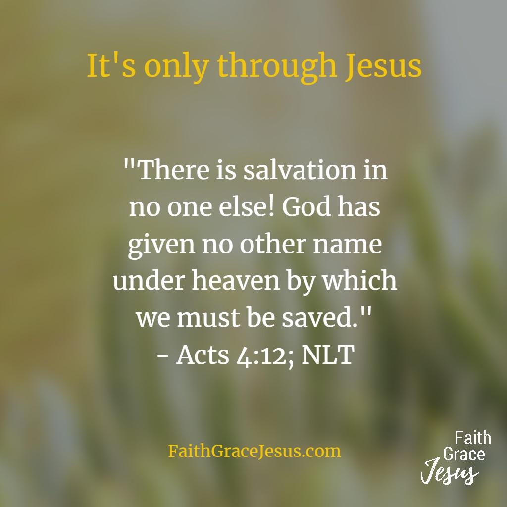 Acts 4:12 (NLT)