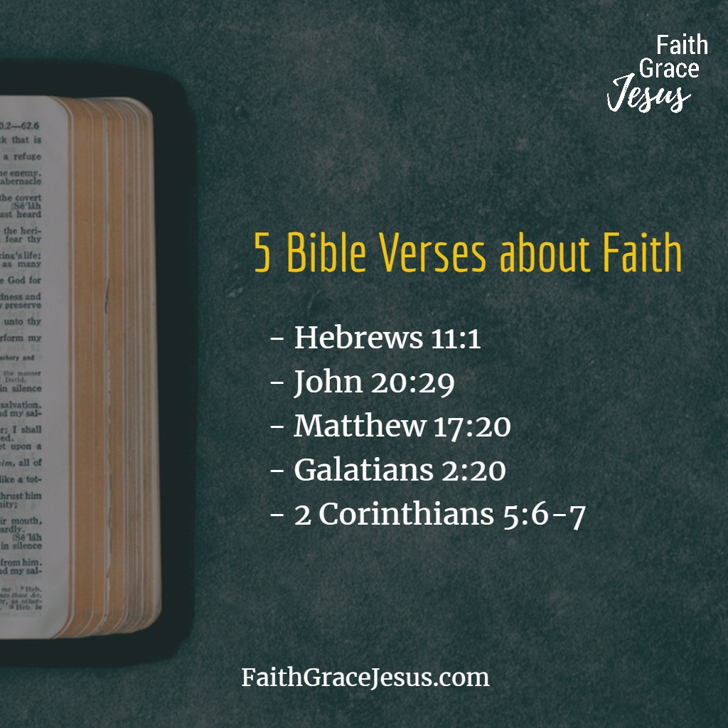 5 Bible Verses about Faith