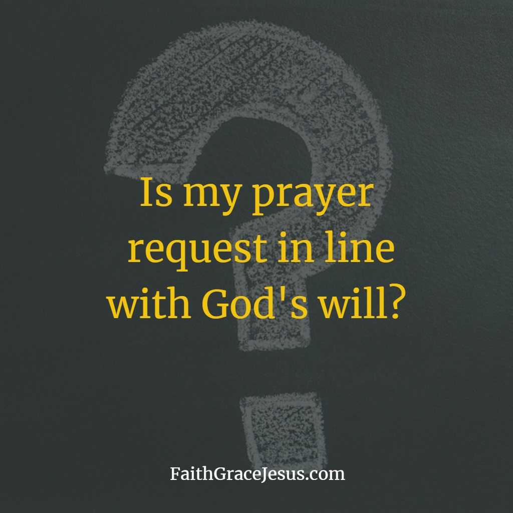 Prayer Request according to God's Will
