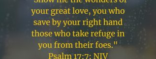 Psalm 17:7: The wonders of God's great love