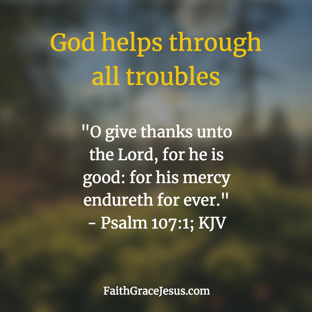 Psalm 107:1 (KJV)