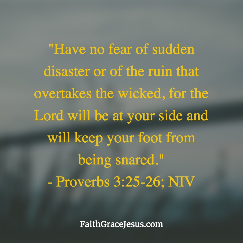 Proverbs 3:25-26 (NIV)