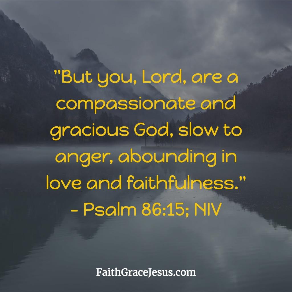 Psalm 86:15 (NIV)