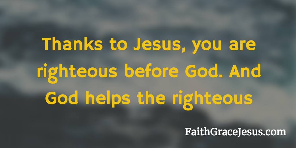 Righteous before God through Jesus