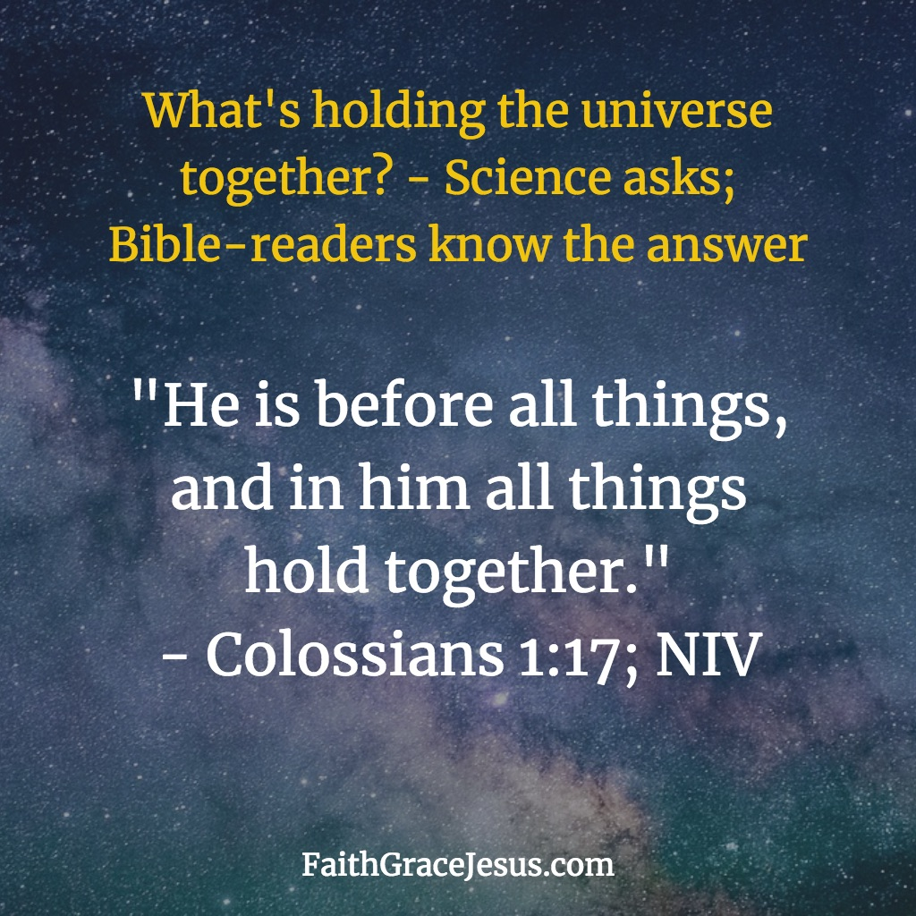 Who created everything? Colossians 1:17 (NIV)
