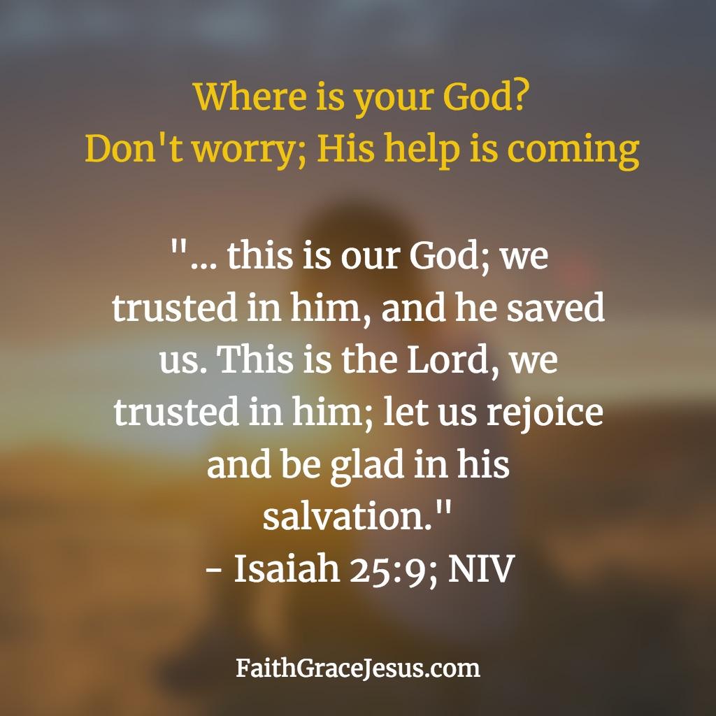 Isaiah 25:9 (NIV)