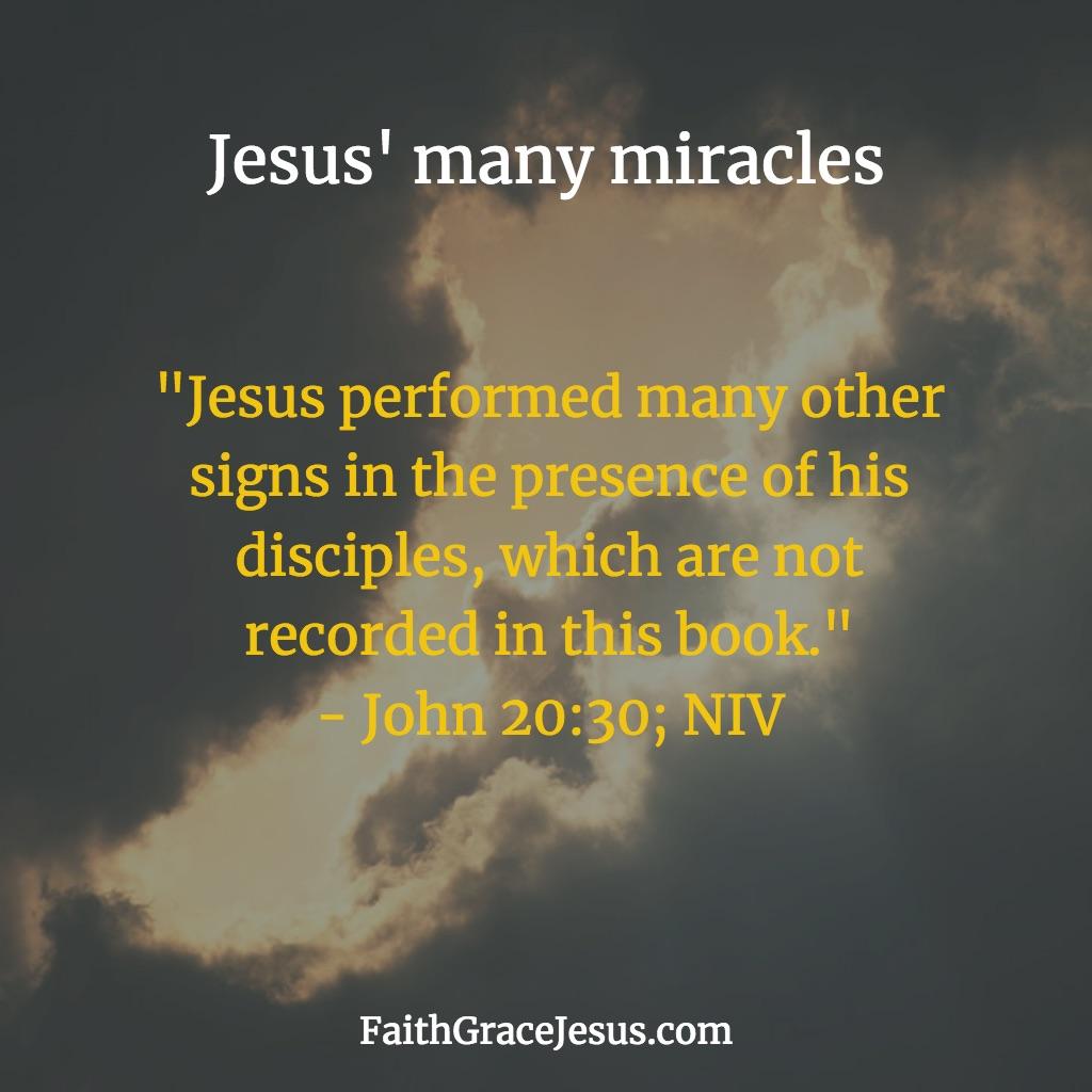 Jesus' miracles: John 20:30 (NIV)