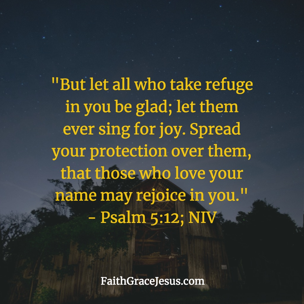 Take refuge in the Lord - Psalm 5:12 (NIV)