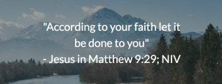 Jesus in Matthew 9:29 (NIV)