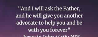 Jesus in John 14:16 (NIV)