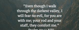 Psalm 23:4 (NIV)