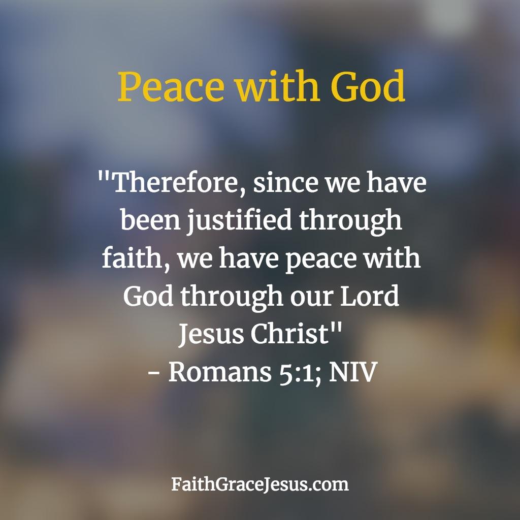 Romans 5:1 (NIV)