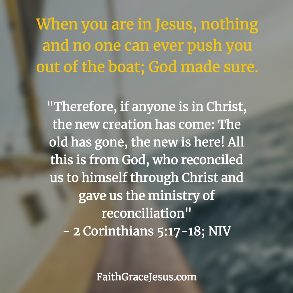 2 Corinthians 5:17-18 (NIV)