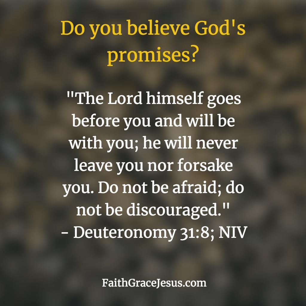 Deuteronomy 31:8 (NIV)