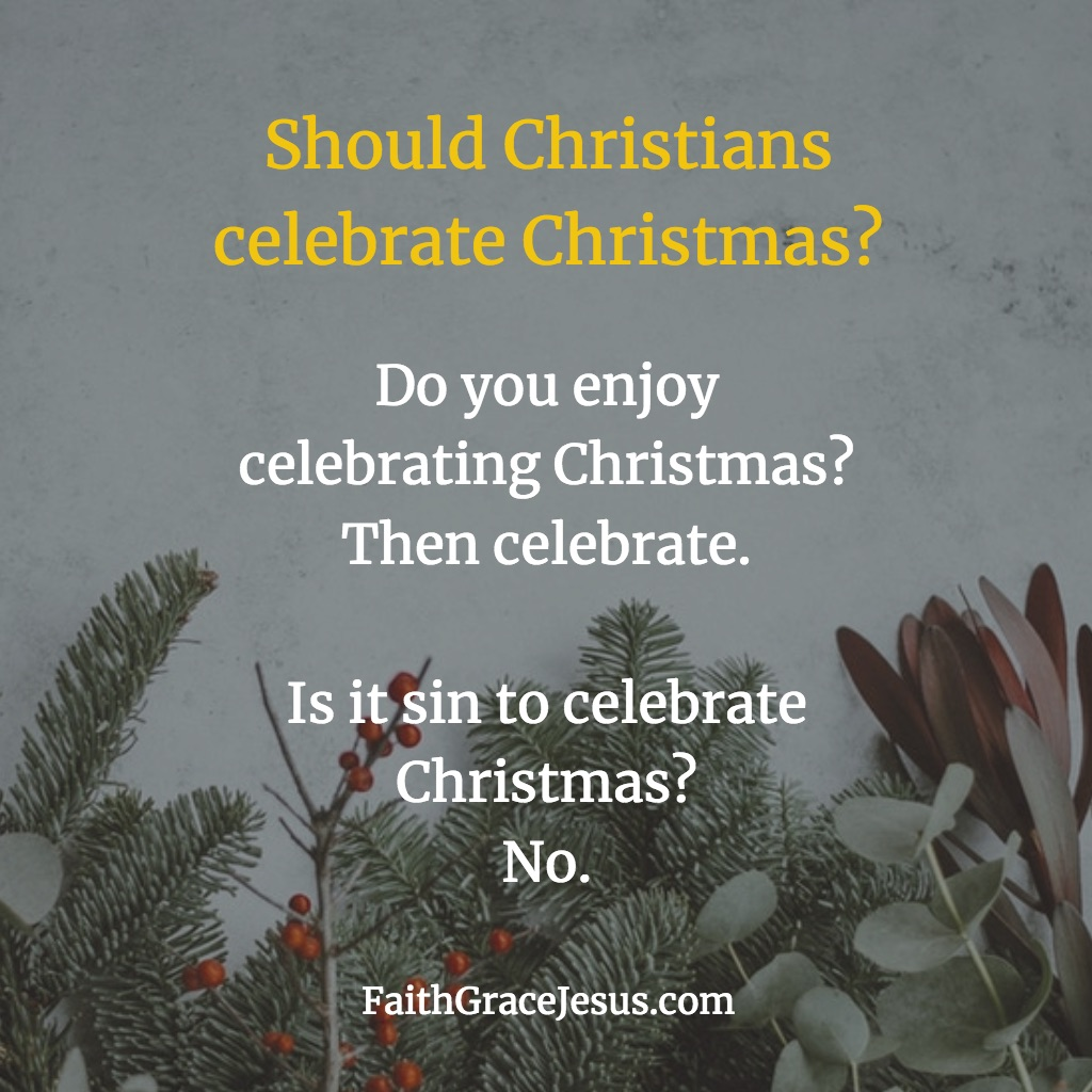 Is it bad to celebrate Christmas?