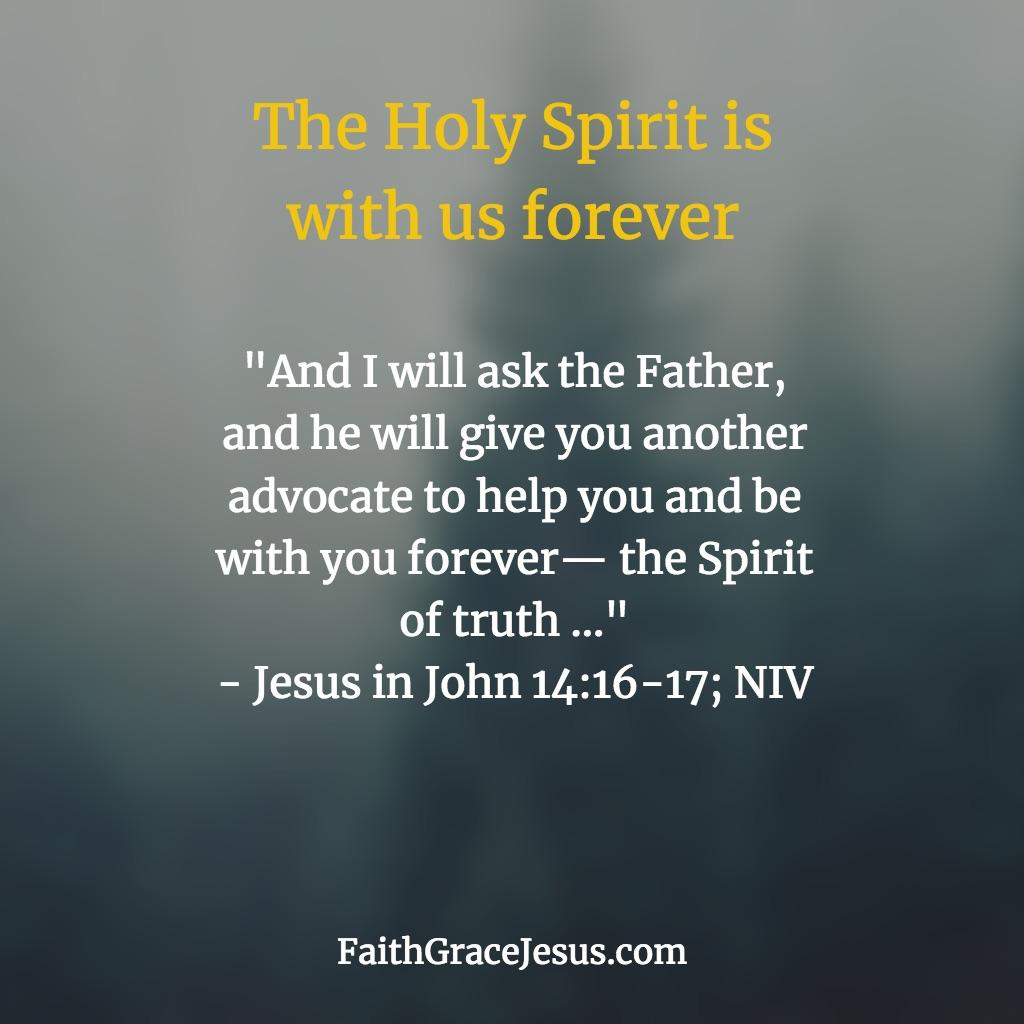 Jesus in John 14:16-17 (NIV)