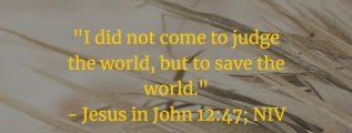 Meaning of John 12:47 (NIV)
