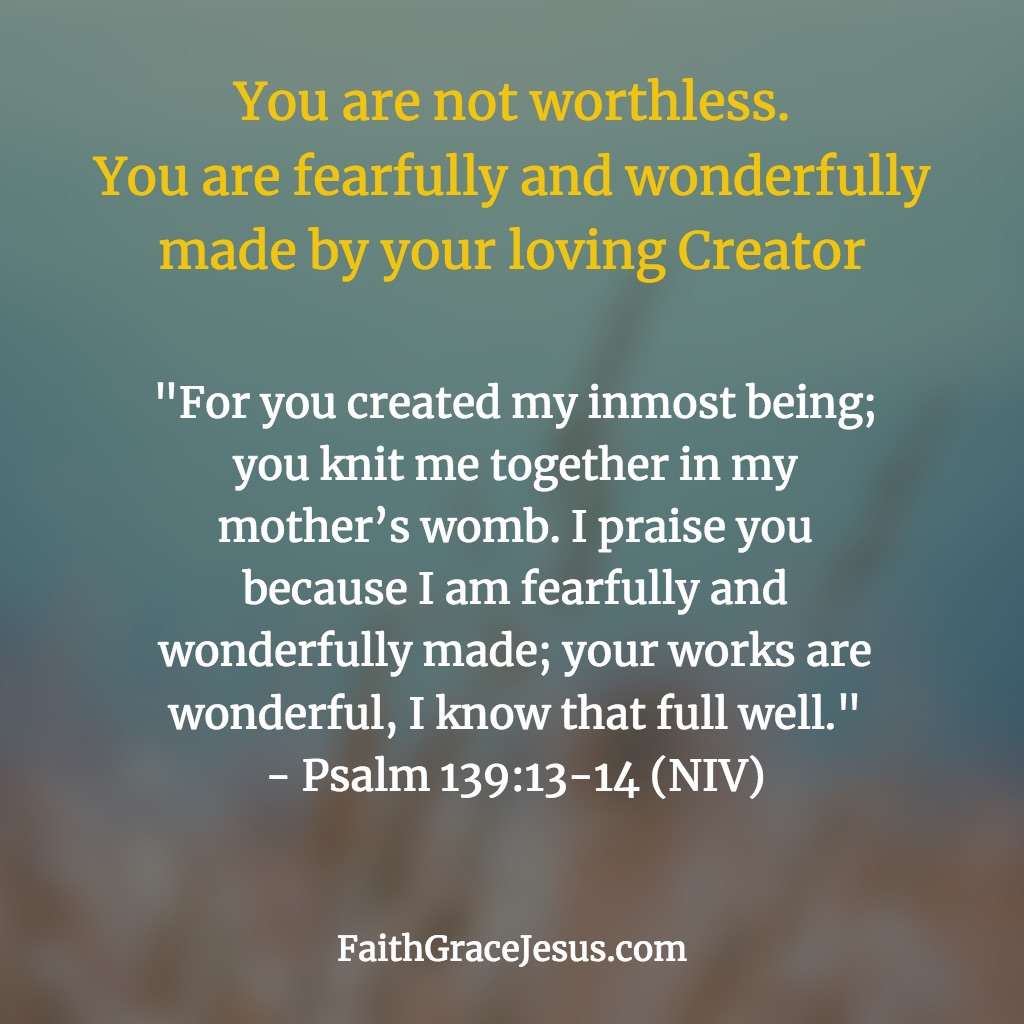 "Bible verse ""fearfully and wonderfully made"" - Psalm 139:13-14 (NIV)"