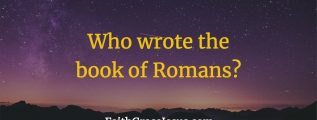 Who is the author of the book of Romans in the Bible?