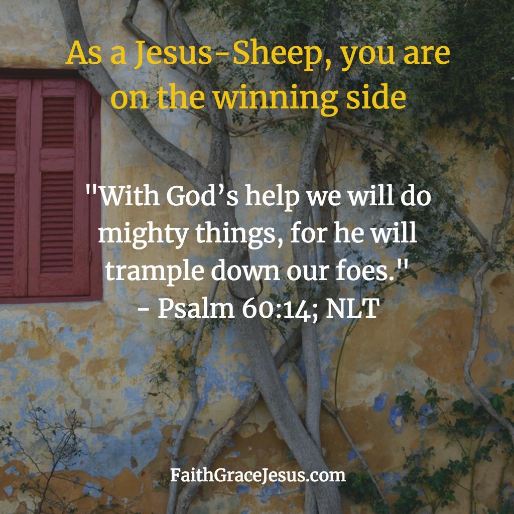 Psalm 60:14 (NLT)