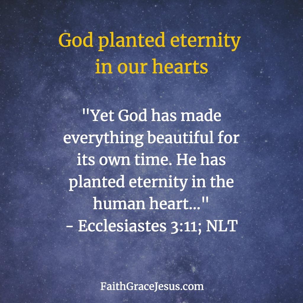 Ecclesiastes 3:11 (NLT)