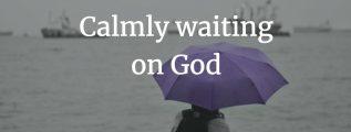 Calmly waiting on God - Exodus 14:14 (NIV)