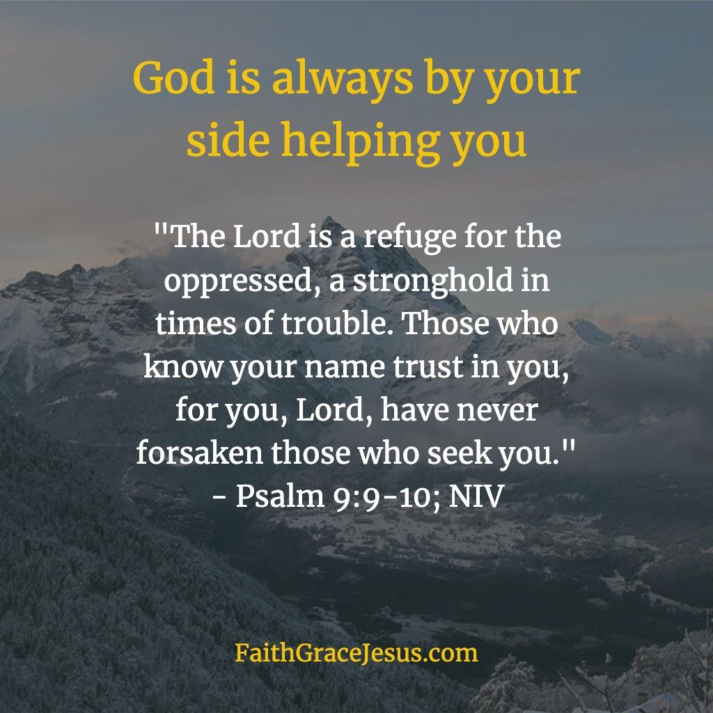 Psalm 9:9-10; NIV