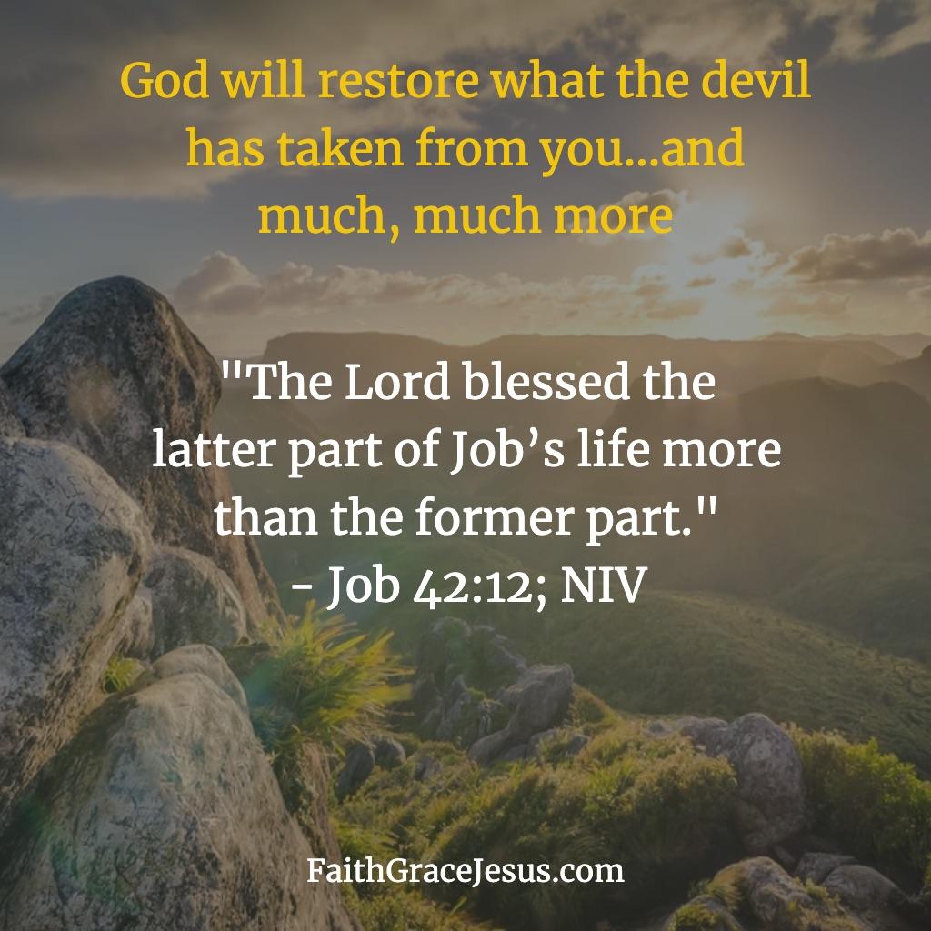 Job 42:12 (NIV)