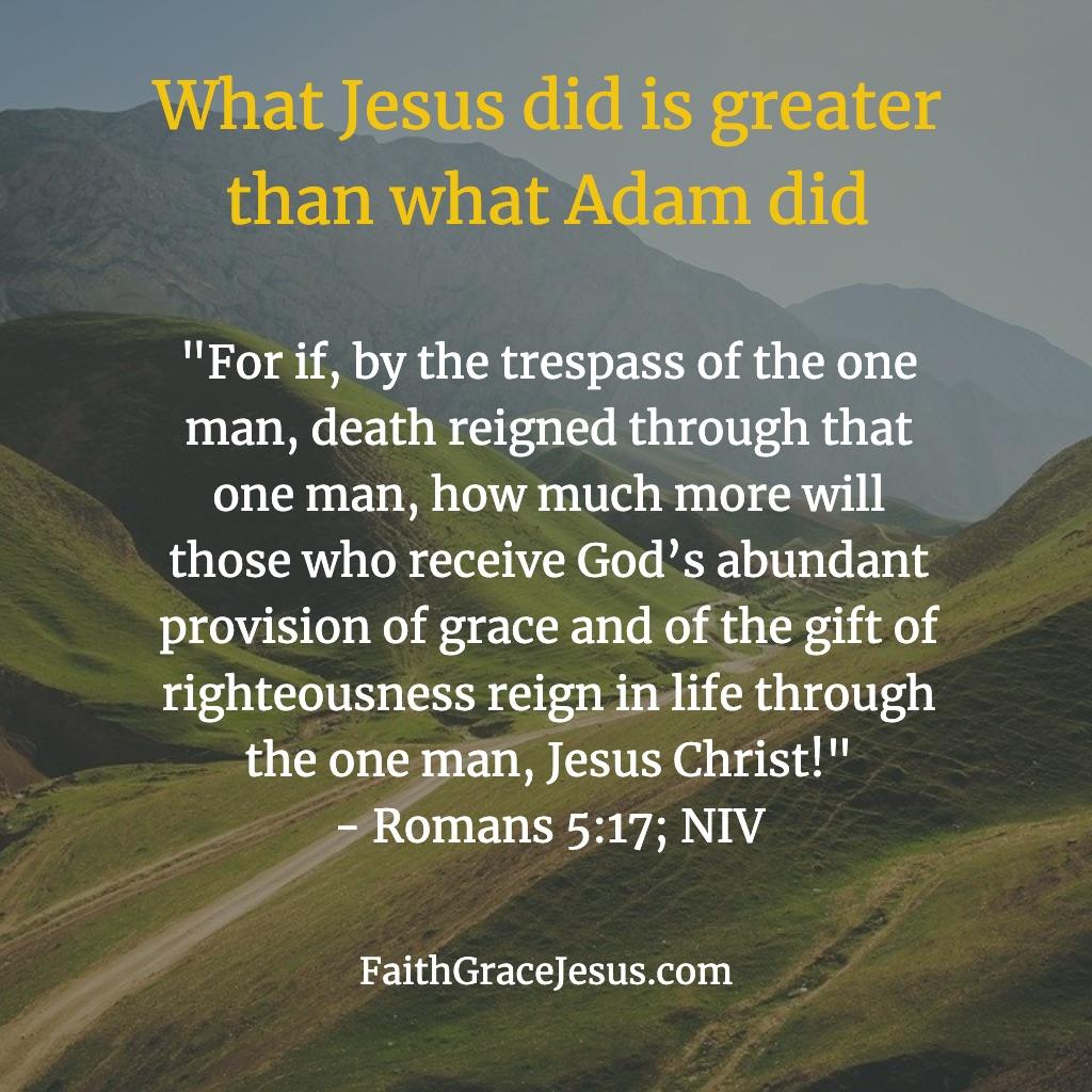 Romans 5:17 (NIV) Bible Verse
